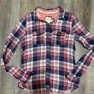 Hollister Plain button down flannel